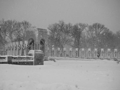 White Blanket on the WWII Memorial
